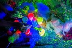 Dipinga l'ultravioletto Fotografie Stock Libere da Diritti