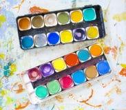 Dipinga la casella Fotografia Stock