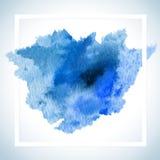 Dipinga la progettazione del quadro televisivo della carta della macchia Il modello del manifesto del colpo dell'acquerello manda Immagini Stock Libere da Diritti