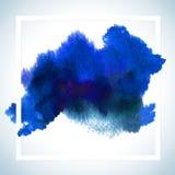 Dipinga la progettazione del quadro televisivo della carta della macchia Il modello del manifesto del colpo dell'acquerello manda Fotografia Stock Libera da Diritti