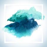 Dipinga la progettazione del quadro televisivo della carta della macchia Il modello del manifesto del colpo dell'acquerello manda Immagine Stock