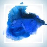 Dipinga la progettazione del quadro televisivo della carta della macchia Il modello del manifesto del colpo dell'acquerello manda Immagine Stock Libera da Diritti