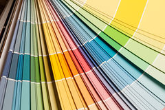 Dipinga la tavolozza di colore Fotografia Stock Libera da Diritti