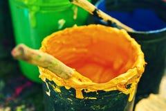 Dipinga le latte Immagini Stock