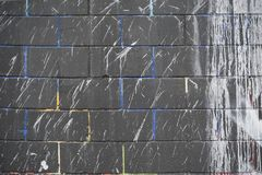 Dipinga schizza sulla parete Immagini Stock Libere da Diritti