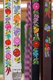 1 dipinta e ricamato ungherese delle cinghie, Fotografie Stock