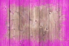 Dipinto approssimativamente rasenti il fondo di legno con lo spazio della copia Fotografie Stock