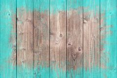 Dipinto approssimativamente rasenti il fondo di legno con lo spazio della copia Immagine Stock