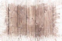Dipinto approssimativamente rasenti il fondo di legno con lo spazio della copia Fotografia Stock Libera da Diritti
