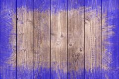 Dipinto approssimativamente rasenti il fondo di legno con lo spazio della copia Fotografie Stock Libere da Diritti