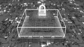 dipinto futuristico 4K del cybersecurity avanzato illustrazione di stock