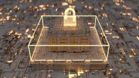 dipinto futuristico 4K del cybersecurity avanzato illustrazione vettoriale