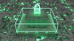dipinto futuristico 4K del cybersecurity avanzato royalty illustrazione gratis