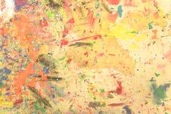 Dipinto a mano acrilico di lerciume astratto sul fondo della tela immagine stock libera da diritti