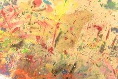 Dipinto a mano acrilico di lerciume astratto sul fondo della tela fotografie stock
