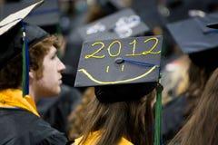 Diplômé 2012 heureux Photo stock