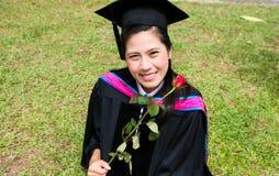 Diplômé asiatique d'université Image stock