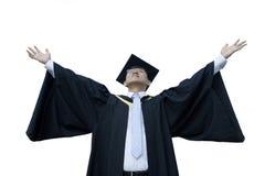 Diplômé asiatique heureux de mâle photographie stock libre de droits