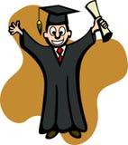 Diplômé avec le diplôme Images libres de droits