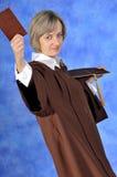 Diplômé avec le diplôme Photographie stock