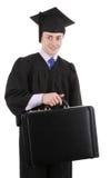 Diplômé avec un breifcase Image stock