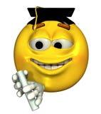Diplômé d'émoticône - comprend le chemin de découpage illustration libre de droits
