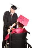 Diplômé d'aîné dans le fauteuil roulant Photos stock