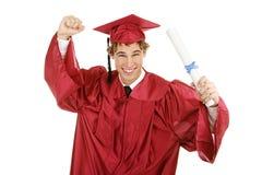 Diplômé enthousiaste photo libre de droits