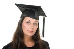 Diplômée 4 de jeune femme photo stock