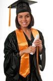 Diplômées de jeune femme Photos stock