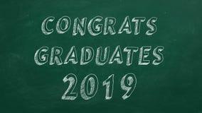 Diplômés de Congrats 2019 illustration stock
