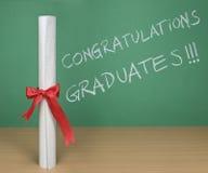 diplômés de félicitations Photographie stock