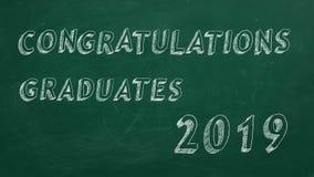 Diplômés de félicitations 2019 illustration de vecteur