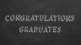 Diplômés de félicitations illustration de vecteur