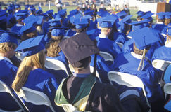 Diplômés de lycée Photos libres de droits