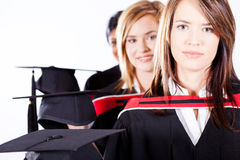Diplômés féminins photographie stock