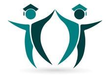 Diplômés heureux Image libre de droits