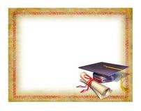 Diplôme blanc de graduation illustration de vecteur