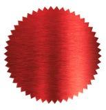 Diplôme d'aluminium ou joint rouge de certificat d'isolement photographie stock
