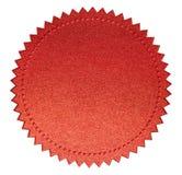 Diplôme ou joint rouge de certificat d'isolement image stock