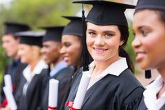 Diplômé à l'obtention du diplôme Photos stock