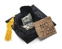 Diplômé d'université sans emploi photos stock
