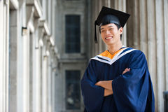 Diplômé dans le vestibule Image stock