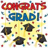 Diplômé de Congrats ! Photo stock
