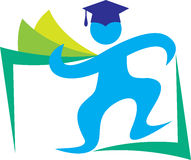 Diplômé heureux Image libre de droits