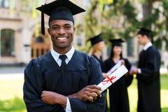 Diplômé heureux Photographie stock