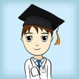 Diplômé médical d'éducation Photos stock