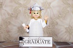 Diplômée de fille photographie stock