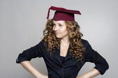 Diplômées de jeune femme Image libre de droits