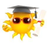 diplômés de 3d Sun illustration stock